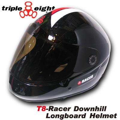 TRIPLE EIGH TRACER DOWNHILL LONGBOARD ヘルメット カラー BLACK RACER 【トリプルエイト TRIPLE8】【日本正規品】