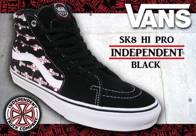 9580d0d8f4e4 Pro Shop RBS  VANS SK8 HI PRO INDEPENDENT BLACK  fs04gm