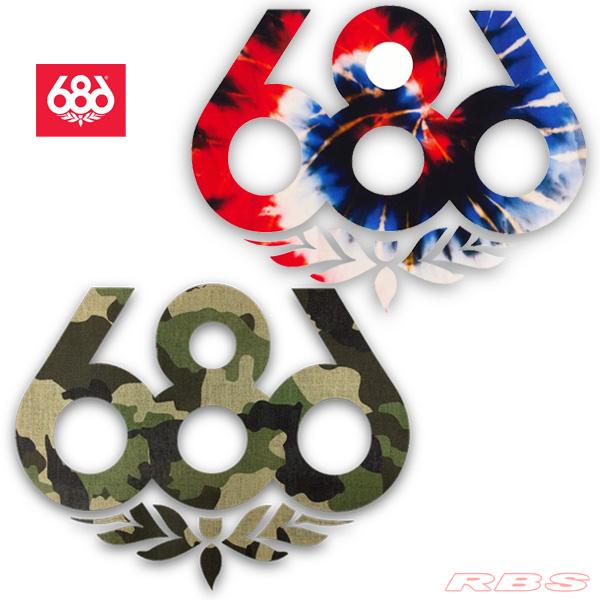 686 Stickers L TIE DYE CAMO