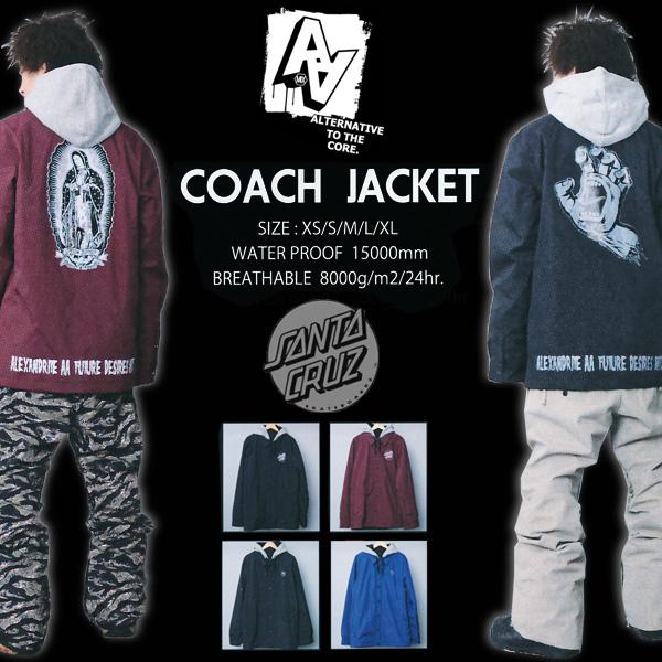 AA HARD WEAR COACH JACKET SANTACRUZ コーチジャケット 【スノーボード ウェア 2016】【送料無料 日本正規品】