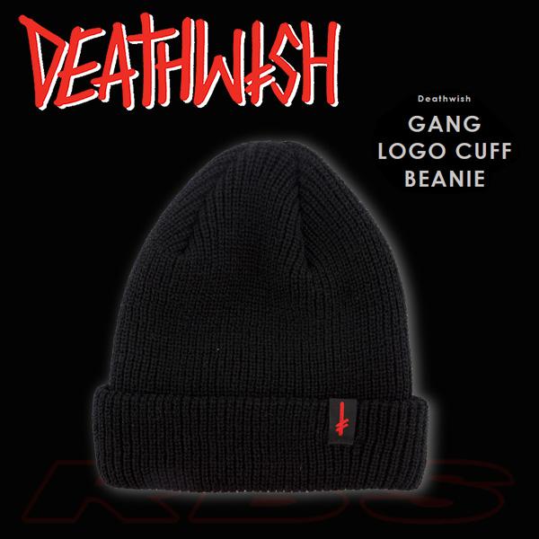 fb59d13a9e9 Pro Shop RBS  DEATH WISH Beanie  quot GANG LOGO CUFF BEANIE quot ...