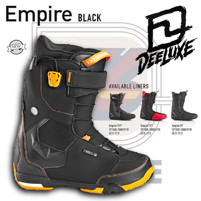 15-16 NEW モデル DEELUXE EMPIRE エンパイア BLACK ブラック 【ディーラックス エンパイア】【15-16 スノーボード ブーツ】【送料無料】【日本正規品】715005