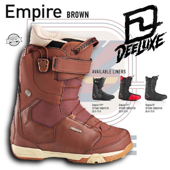 15-16 NEW モデル DEELUXE EMPIRE BROWN ブラウン 【ディーラックス エンパイア】【15-16 スノーボード ブーツ】【送料無料】【日本正規品】715005