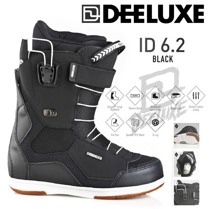 16-17 モデル DEELUXE ID 6.2 アイディー BLACK ブラック 【ディーラックス アイディー】【16-17 スノーボード ブーツ】【送料無料】【日本正規品】