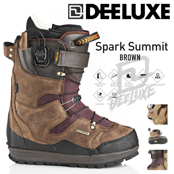 16-17 モデル DEELUXE ディーラックス SPARK SUMMIT BROWN 【デーラックス スパーク サミット 】【16-17 スノーボード ブーツ】【送料無料】