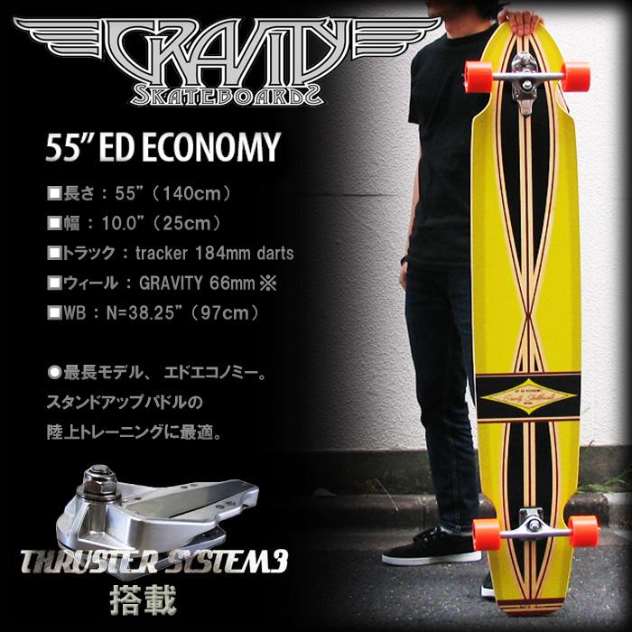 グラビティ スケボー スラスター3 付き ED-55