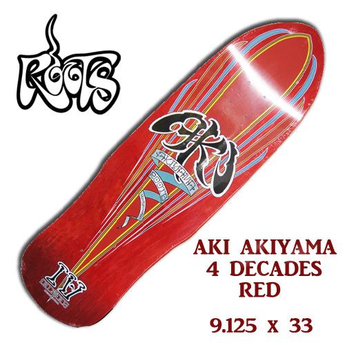 ROOTS AKI AKIYAMA 4TH DECADE RED 9.125 x 33 【ルーツ スケートボード】【ロンスケ ロングスケート 】【日本正規品】