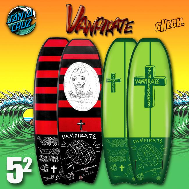 SANTACRUZ SURFBOARD VANPIRATE 5.2 サーフボード 【サンタクルーズ サーフボード】【日本正規品】