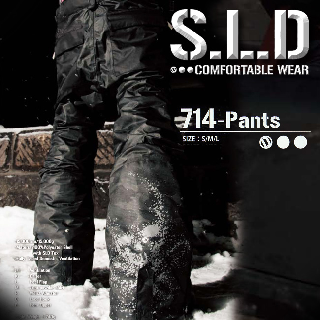 S.L.D エスエルディー 714-PANTS パンツ 【 ソールドアウト 】【 スノーボード ウエア 15-16 】【送料無料】【取り寄せ商品】