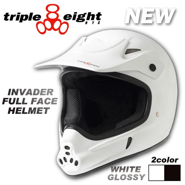 TRIPLE EIGHT ヘルメット INVADER FULL FACE HELMET 【トリプルエイト ヘルメット】【スケートボード 自転車】【日本正規品】715005