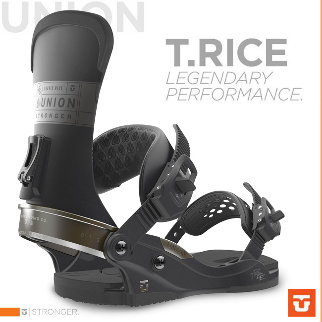 UNION BINDING T.RICE BLACK 【ユニオン バインディング】【スノーボード トラビスライス 】【送料無料】【日本正規品】【即納】