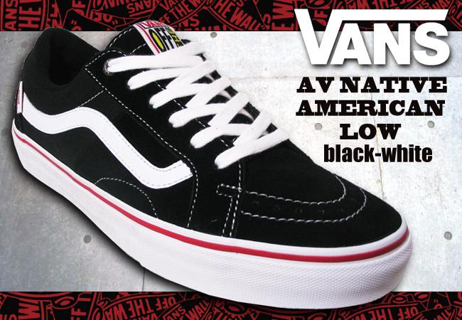 Pro Shop RBS  VANS AV NATIVE AMERICAN LOW BLACK WHITE  fs04gm ... 65c61ca3589d