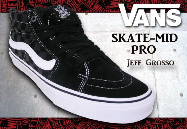 VANS SK8-MID PRO JEFF GROSSO/BLACK CHECKER