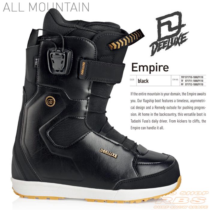 17-18 NEWモデル DEELUXE EMPIRE エンパイア BLACK ブラック 【ディーラックス エンパイア】【17-18 スノーボード ブーツ】【送料無料】【日本正規品】