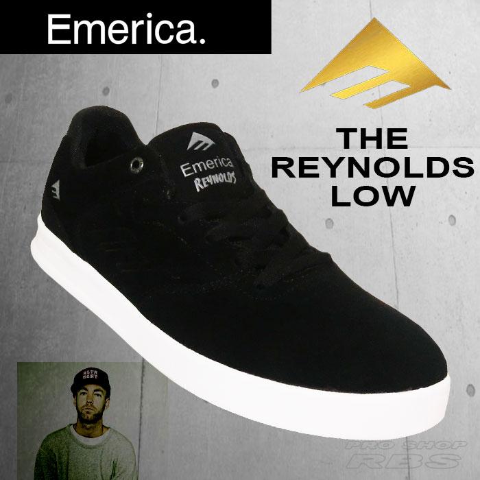 EMERICA THE REYNOLDS LOWBLACK/SILVER【エメリカ スケート シューズ】【日本正規品】