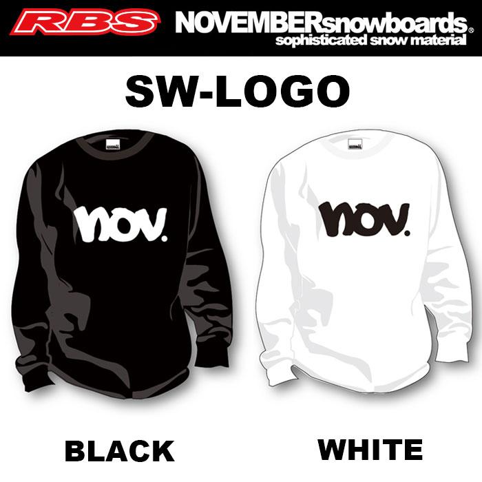 NOVEMBER SWEAT SW-LOGO【カラー BLACK WHITE】【 クルーネック スウェット スエット トレーナー】【ノーベンバー スノーボード 18-19】