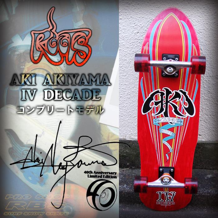 ROOTS AKI AKIYAMA 4 DECADES RED 9.125 x 33 コンプリート モデル 【ルーツ スケートボード】【ロンスケ ロングスケート】【日本正規品】【あす楽】