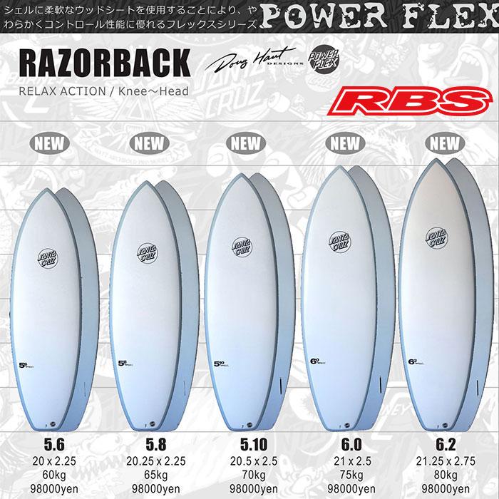 2018 SANTACRUZ SURFBOARD POWER FLEX パワーフレックス RAZORBACK レーザーバック 【サンタクルーズ サーフボード】【日本正規品】