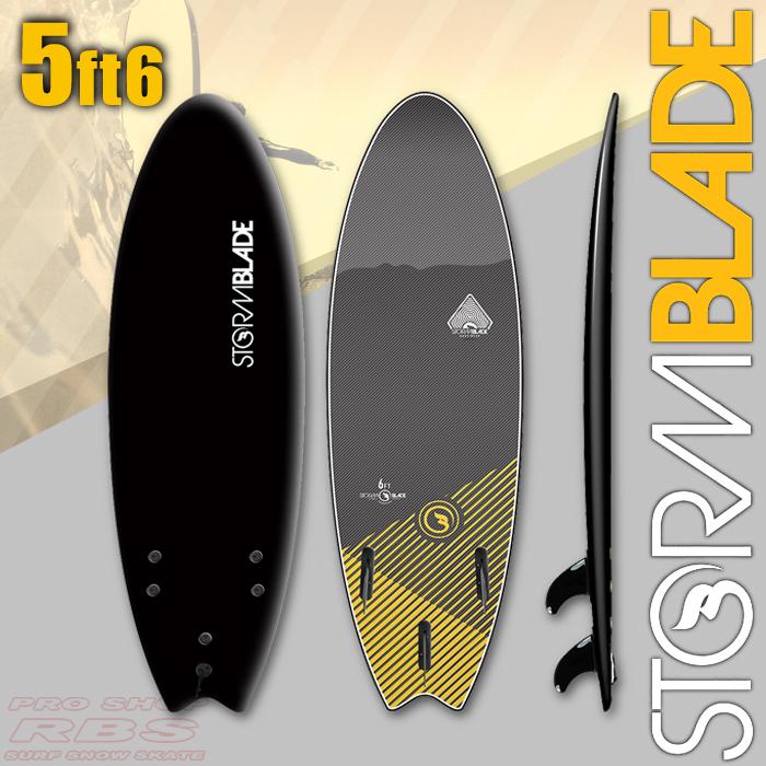 STORM BLADE ストームブレード 5'6 SWALLOW TAIL BLACK/BLACK 【サーフィン サーフボード】【ソフトボード スポンジボード】【日本正規品】【代引き不可】