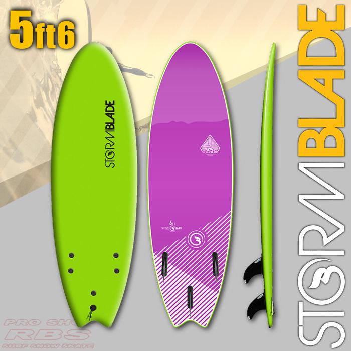 STORM BLADE ストームブレード 5'6 SWALLOW TAIL GREEN/VIOLET JADE 【サーフィン サーフボード】【ソフトボード スポンジボード】【日本正規品】【代引き不可】