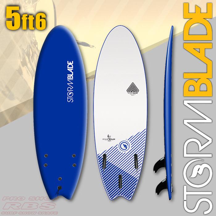 STORM BLADE ストームブレード 5'6 SWALLOW TAIL NAVY/WHITE 【サーフィン サーフボード】【ソフトボード スポンジボード】【日本正規品】【代引き不可】