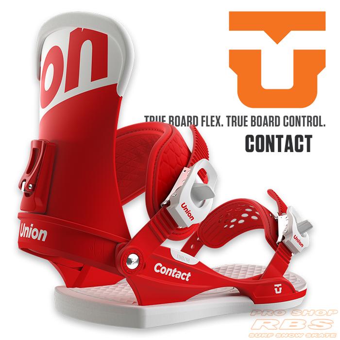 17-18 モデル UNION BINDING CONTACT コンタクト RED レッド 【UNION 17-18】【ユニオン バインディング】【スノーボード ビンディング】【日本正規品】