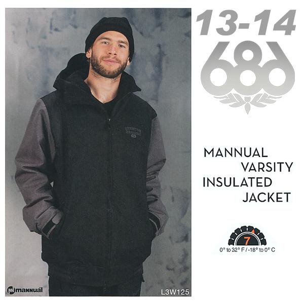 販売開始! 13-14 NEW MODEL! 686 MANNUAL VARSITY INSULATED ジャケット 【13-14 スノーボード ウェア】【バーシティ】715005