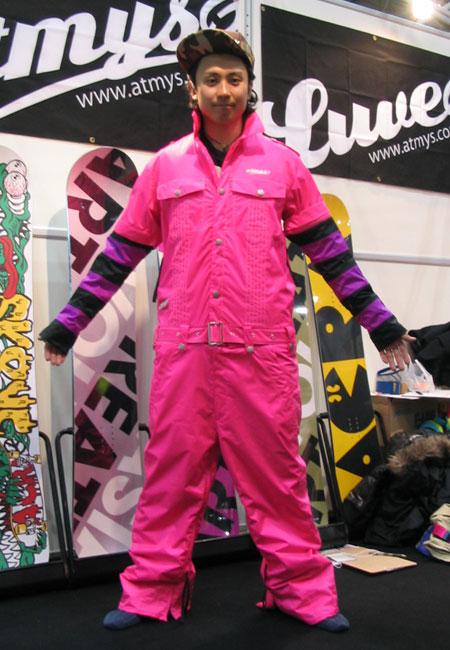 ATMYS WORKS ジャケット ピンク WORKS パンツ ピンク 上下セット 【スノーボード ウェア】