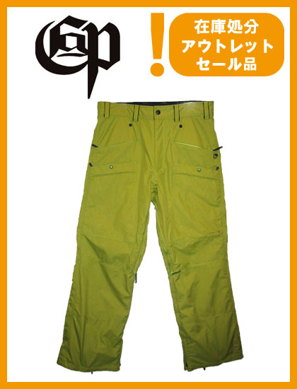 COMMAND 9 PROJECT STD PANTS カラー GREEN 【コマンドナイン パンツ【スノーボード ウェア】【SS02P02dec12】715005