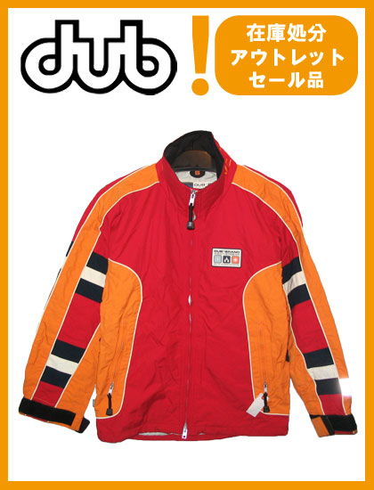DUB JACKET カラー RED×ORANGE 【ダブ ジャケット】【スノーボード ウェア】715005