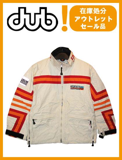 DUB JACKET カラー WHITE×ORANGE×RED 【ダブ ジャケット】【スノーボード ウェア】715005
