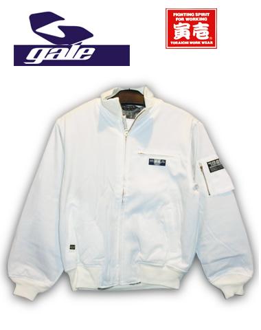 GALE×寅壱コラボ!【芸流】 タンカーズジャケット【カラー ホワイト】715005