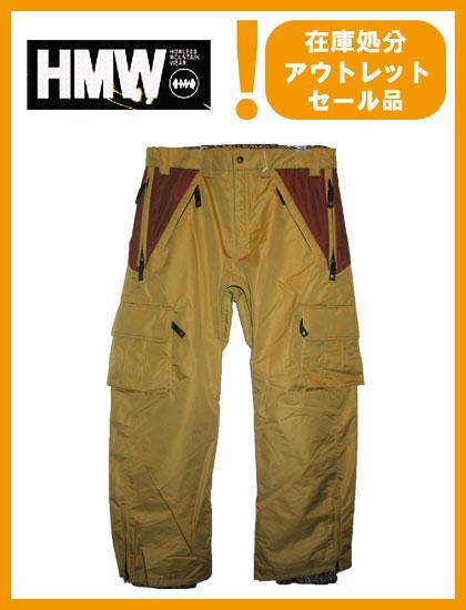 HMW AH TECK PANTS カラー BEIGE×BROWN 【 ホームレス パンツ】【スノーボード ウェア】【SS02P02dec12】715005