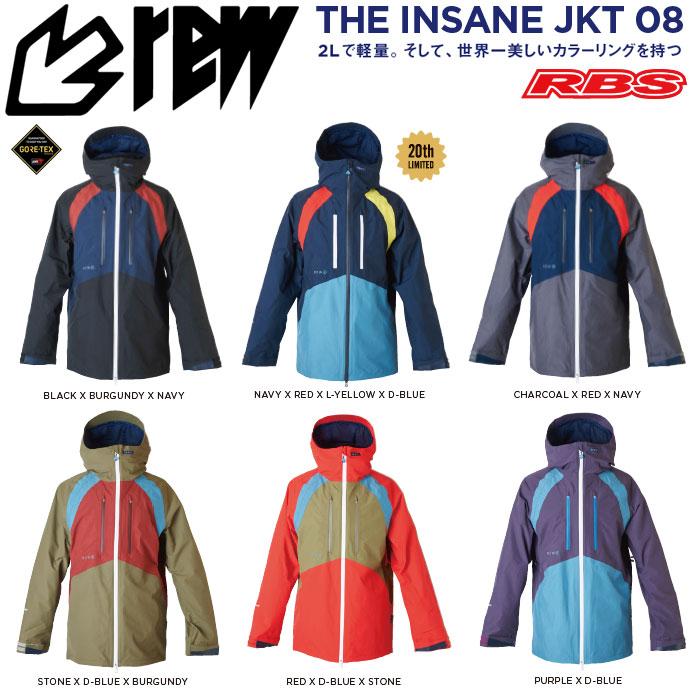 REW 19-20 THE INSANE JACKET GORE-TEX インセーン ジャケット ゴアテックス スノーボード ウェア 【送料無料 日本正規品】