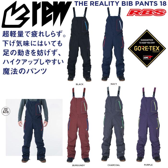 REW 19-20 THE REALITY BIB PANTS GORE-TEX ゴアテックス リアリティー ビブパンツ 【スノーボード ウェア】 【送料無料 日本正規品】