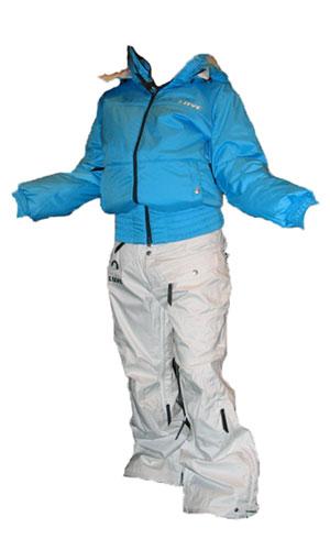 LUVE SINGLE ジャケット ブルー パンツ ホワイト2 【上下セット ルーブ】【スノーボード ウェア】715005