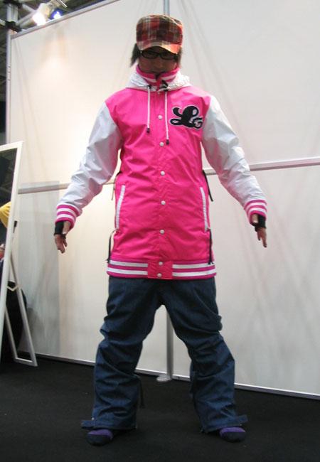 新品未開封! ★販売中★ LUVESOUL ジャケット PINK SOUL パンツ D-BLUE(デニム調) スノーボード ウェア 上下セット【送料無料】715005