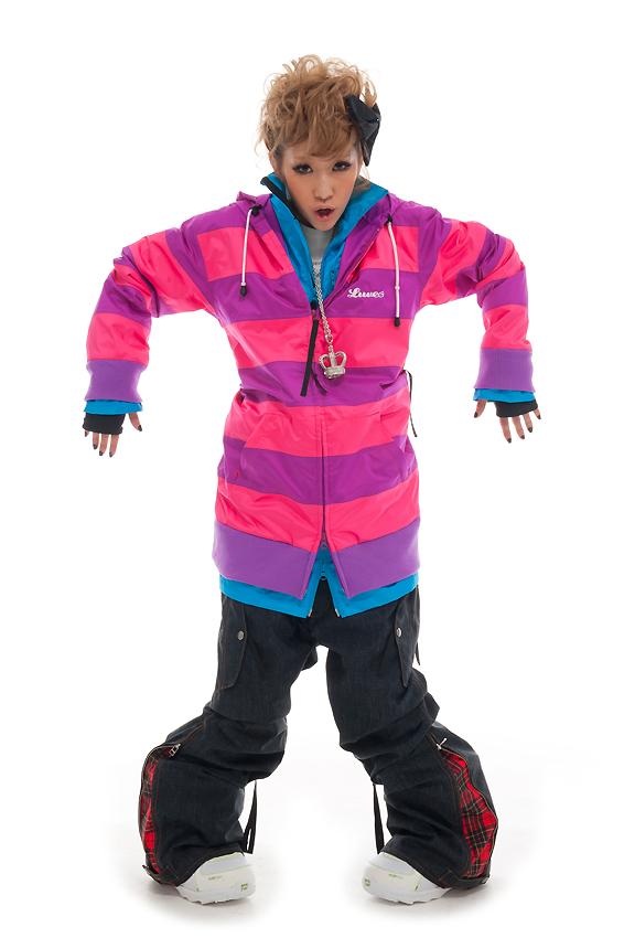 LUVE FUNK ジャケット PINK FUNK パンツ D-NAVY (デニム調) 上下セット 【スノーボード ウェア】715005
