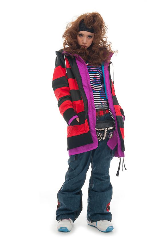 LUVE FUNK ジャケット RED FUNK パンツ D-BLUE (デニム調) 上下セット 【スノーボード ウェア】