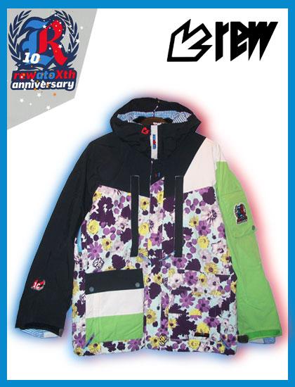 REW PIPEMAN ジャケットカラー F-CAMO×NAVY×WHITE×LIME【スノーボード ウェア】715005