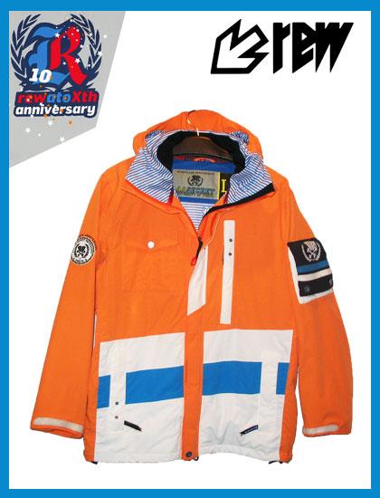 REW STRIDER ジャケットカラー ORANGE×WHITE×SKY×NAVY【スノーボード ウェア】715005