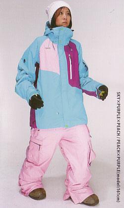 ★新品未開封 REW MANIFESTO ジャケット SKY×PURPLE×PEACH MANIFESTO CARGO パンツ PEACH×PURPLE 上下セット【スノーウボード ウェア 送料無料】715005