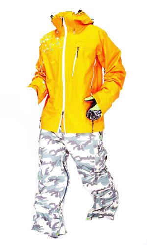 ★新品未開封REWREALITY ジャケットSAFFRONREALITY CARGO パンツGORE-TEX SNOW CAMO上下セット【スノーウェア 送料無料】715005
