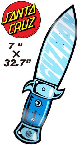 SANTACRUZ デッキ GUZMAN SWITCH BLADE 7 x 32.7 【正規品】【サンタクルーズ】【スケートボード クルーザー】715005
