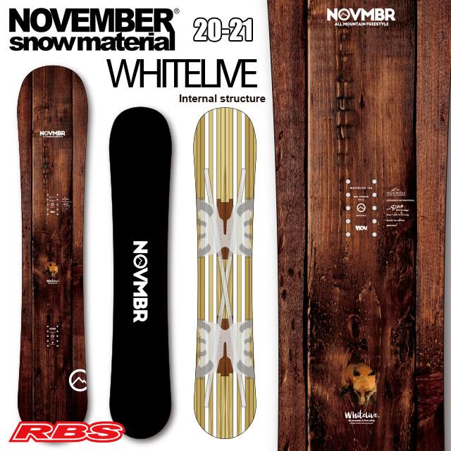 NOVEMBER 20-21 WHITELIVE 【ノーベンバー ホワイトライブ キャンバー】【スノーボード ボード 20-21】【送料無料・チューンナップ無料】【日本正規品 予約商品】