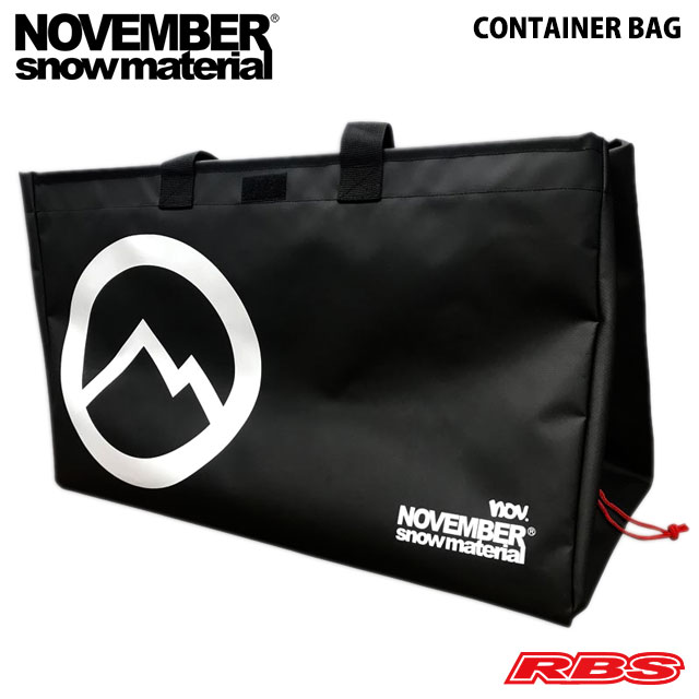 ノベンバーのコンテナ バッグが登場 定価の67%OFF NOVEMBER ノーベンバー CONTAINER BAG コンテナ メーカー直売 バッグ 日本正規品 ノベンバー 車載 収納 折り畳み スノーボード 21-22