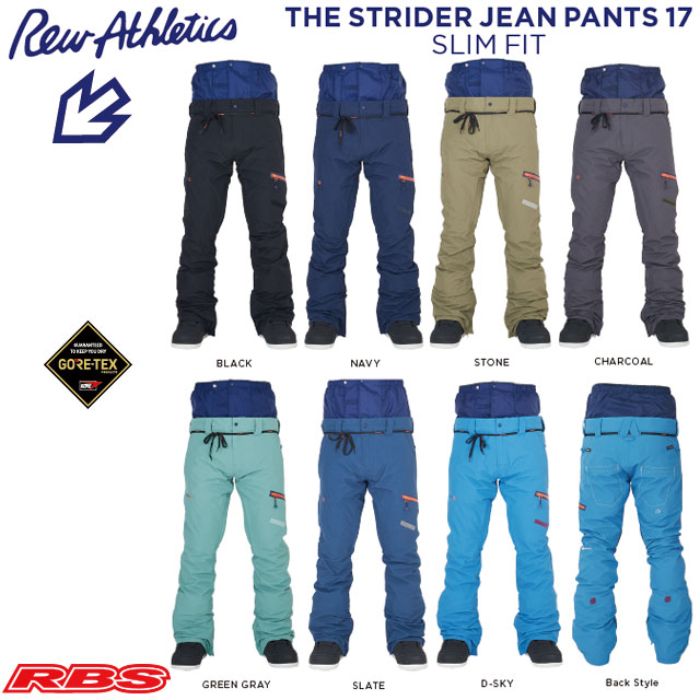 REW 20-21 THE STRIDER JEAN パンツ SLIM FIT GORE-TEX 【スノーボード ウェア ストライダー スリム 】 【送料無料 日本正規品 予約商品】
