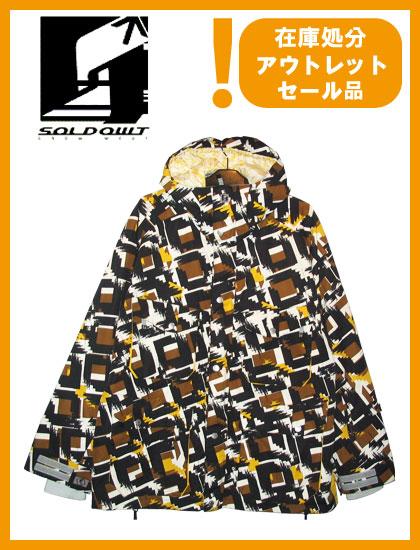 SOLD OWT 36 JACKET カラー ORANGE SQUARE 【ソールドアウト ジャケット】【スノーボード ウェア】
