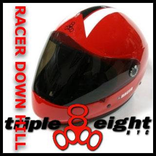 トリプル8 RACER DOWNHILL LONGBOARD ヘルメット カラー RED RACER 【日本正規品】