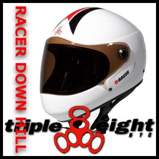 トリプル8 RACER DOWNHILL LONG BOARD ヘルメット カラー WHITE RACER 【日本正規品】